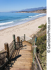 Rincon Park Beach Access - Stairs leading down to the beach...