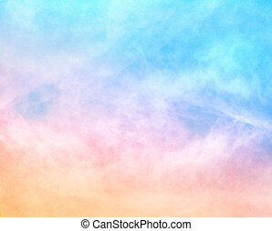 Textured Rainbow Clouds - A soft cloud background with a...