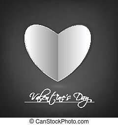 Abstract Vector Heart for Valentine - Design Template -...