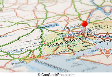 Southampton on map - Southampton, United Kingdom, Europe....