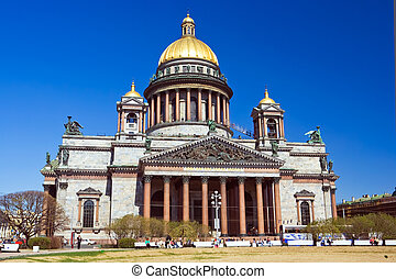 Saint Isaac\'s Cathedral in St Petersburg, Russia