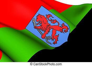 Flag of Aalsmeer, Netherlands. Close Up.