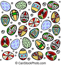 seamless easter holiday background