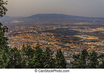 Pamplona city - Morning view at Pamplona city in Spain.