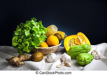 Still life vegetables
