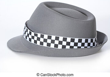 fedora - grey fedora isolated on white background