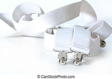 suspenders - white suspenders isolated on white background