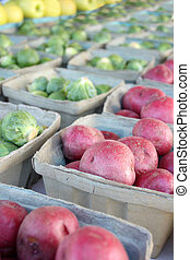 Fresh Fruits and Vegetables for Sale at Farmers Market -...