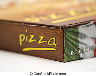 Take away pizza box - An image of a take away pizza box...
