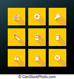 Vector flat web icon set - Flat web icon set - vector...
