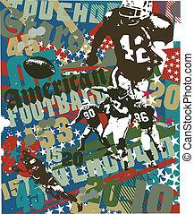 american football touchdown - football sport vector for...