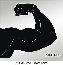 Cartoon biceps (man's arm muscles)