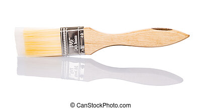 Paint Brush - Paint brush over white background