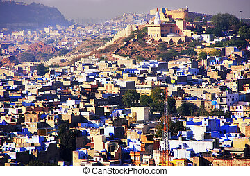 Jodhpur city seen from Mehrangarh Fort, India - Jodhpur city...