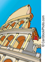 City of Rome - The Colosseum - Italy - A striking image of...