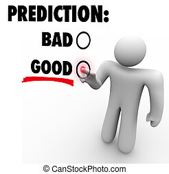 Good Vs Bad Prediction Words Choose Future Expectation -...