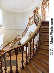 Staircase of a Library - Staircase of a historical public...