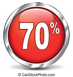 red sale icon - vector illustration of red sale icon on...