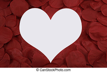 heart in pedals - a big heart with rose pedals surrounding...