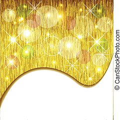Golden Xmas background template