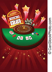 Casino gambling design - A vector illustration of casino...