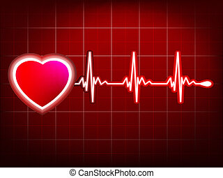 Abstract heart beats cardiogram EPS 10 vector file included