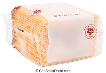Package American Cheese - Package of sliced wrapped American...