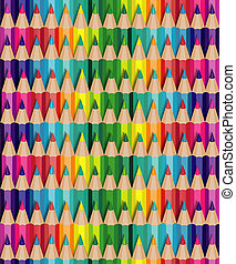 seamless crayon - seamless texture with multicolored pencils