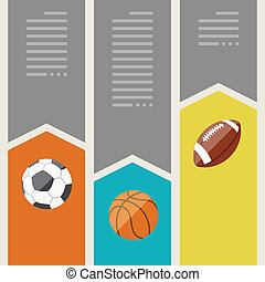 Sports infographics optional banners