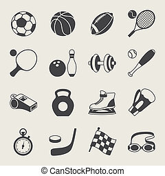 Set of sport icons.