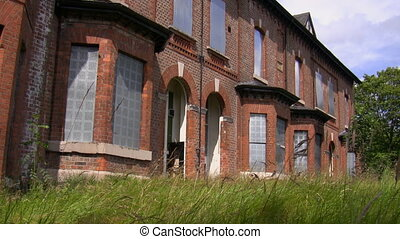 Empty social houses - Terrace of abandoned common council...