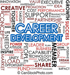 Career development word cloud image with hi-res rendered...