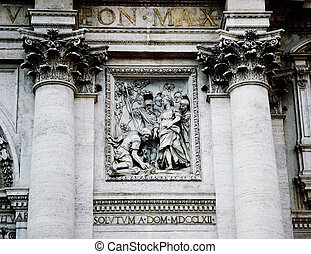 Fountain of Trevi  bas-relief