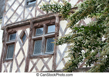 Half-timbered house in Chinon, Vienne Valley, France