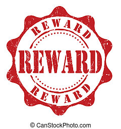 Reward stamp - Reward grunge rubber stamp on white, vector...