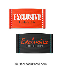 Exclusive collection labels - Exclusive collection clothing...
