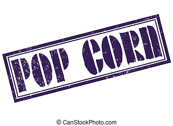 pop corn grunge stamp whit on vector illustration