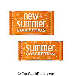 New summer collection labels