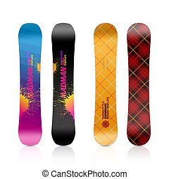 Snowboard design illustration