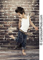 Cute small boy dance