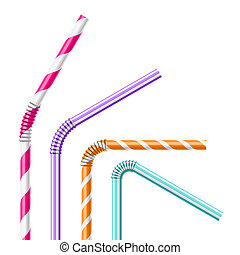 Colorful drinking straws - Drinking straws