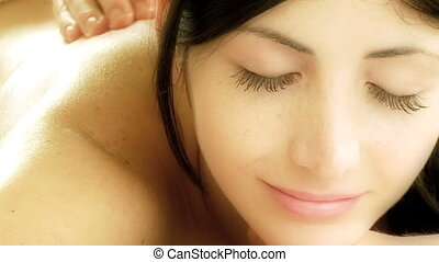 Relaxing massage in spa - Soft magic massage in spa during...