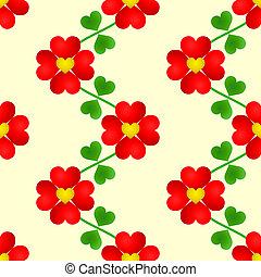 Heart flower seamless wallpaper