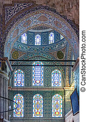 Sultan Ahmed Mosque, Istanbul - Inside view. The Sultan...