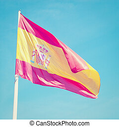 Flag of Spain with retro effect