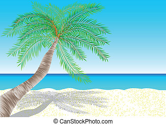 bahamas tropical white sand beach 10 EPS