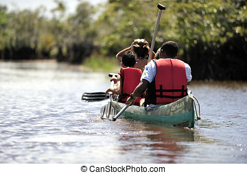 Canoe - People doing canoe in Brazil