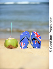 Brazilian Flipflop with Australian flag
