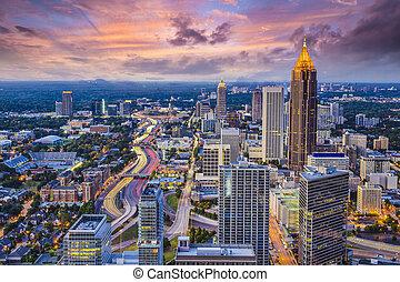 Atlanta Skyine - Atlanta, Georgia downtown aerial view.