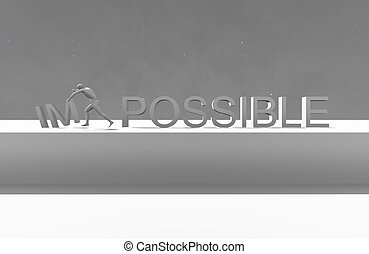 Make it possible Motivational concept made in 3d software